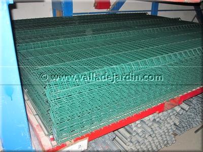 Paneles met licos plegados para vallas de jard n galvanizados - Setos para vallas ...