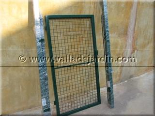 Puertas met licas galvanizadas o verdes accesorios for Valla metalica jardin