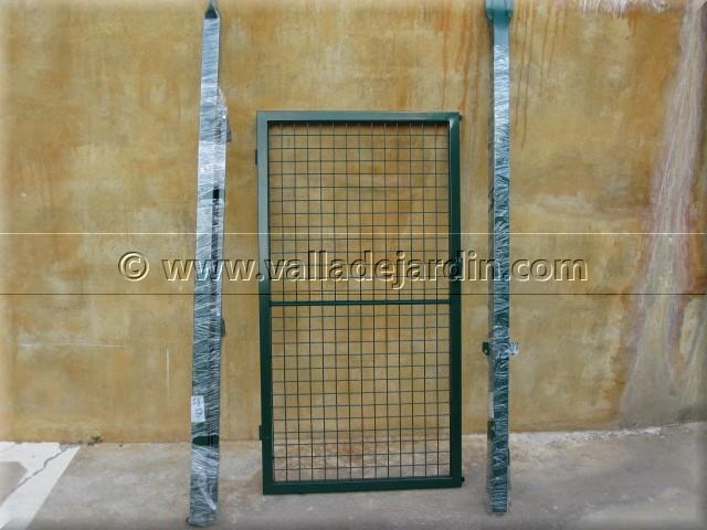 Puertas met licas galvanizadas o verdes accesorios - Puertas metalicas jardin ...