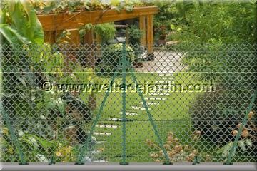Valla de jard n venta y montaje vallas met licas mallas postes puertas met licas alambres Vallas de jardin ikea
