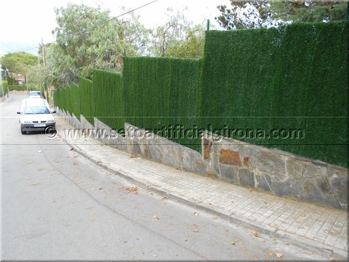 Clientes vallas de jard n obras realizadas valla de - Cesped artificial girona ...